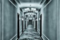 DAS-353 Hotel Hallway Blue Toned 14x14